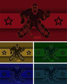 Free Shadow Hockey Goalie Royalty Free Stock Photos - 35536308
