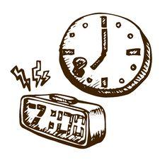 Free Doodle Clock Stock Photos - 35536383