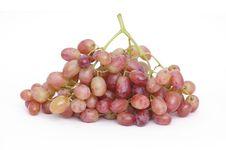 Grapes On White Background Stock Photos