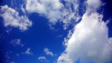 Free Blue Sky With Fluffy Clouds In 1080p Royalty Free Stock Image - 35537996