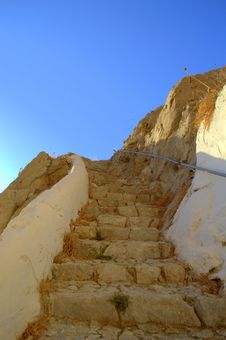 Free Stairway To Heaven,Santorini,Greece Royalty Free Stock Images - 35538379