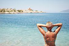Free Beach Woman Royalty Free Stock Image - 35538526