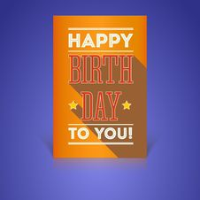 Free Vintage Birthday Card - Vector Stock Photography - 35538932