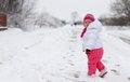 Free Baby Girl In Wintertime Stock Photo - 35547230