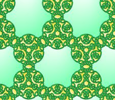 Free Seamless Celtic Style Knot Pattern Royalty Free Stock Image - 35547496