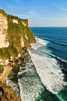 Free Uluwatu Cliffs In Bali Island, Indonesia Royalty Free Stock Photography - 35547937