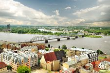 Free Panorama Of Riga, Latvia Stock Images - 35548144
