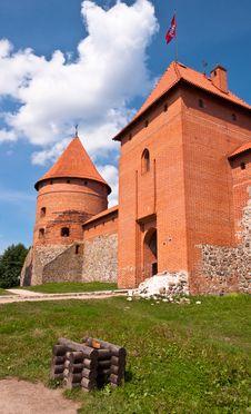 Free Medieval Trakai Castle Near Vilnius, Lithuania. Stock Photo - 35548520