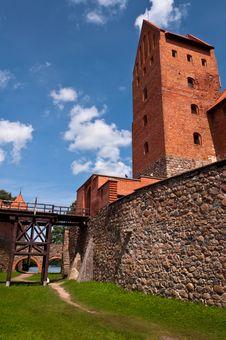 Free Medieval Trakai Castle Near Vilnius, Lithuania. Stock Image - 35548751