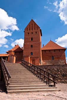 Free Medieval Trakai Castle Near Vilnius, Lithuania. Royalty Free Stock Photography - 35548837