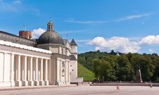 Vilnius Cathedral At A Beautiful Summer Day Royalty Free Stock Images
