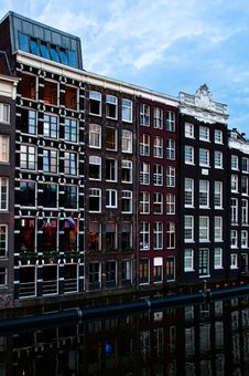 Free Traditional Dutch Architecture Houses Stock Photography - 35549372