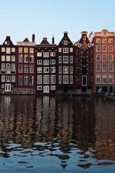 Free Traditional Dutch Architecture Houses Royalty Free Stock Image - 35549406