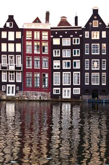 Free Traditional Dutch Architecture Houses Royalty Free Stock Image - 35549416