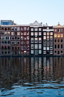 Free Traditional Dutch Architecture Houses Royalty Free Stock Image - 35549436