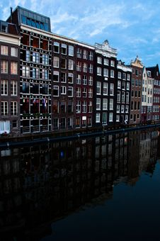 Free Traditional Dutch Architecture Houses Royalty Free Stock Photos - 35549468