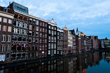 Free Traditional Dutch Architecture Houses Stock Images - 35549524