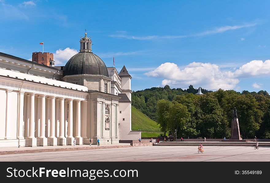 Vilnius Cathedral at a Beautiful Summer Day