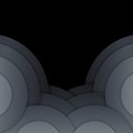 Free Abstract Dark Grey Paper Circles Background Royalty Free Stock Photo - 35550855