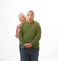 Free Elderly Couple In Christmas Colors Stock Photos - 35553363