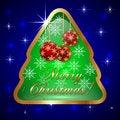 Free Vector Glass Christmas Tree With Ball And Stock Image - 35558871