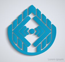 Abstract Geometric Business Sign.