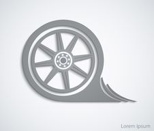 Free Car Wheel. Abstract Car Sign For Your Design Template Or Brochur Royalty Free Stock Images - 35550619