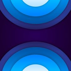 Free Abstract Blue Paper Circles Background Royalty Free Stock Photos - 35550868