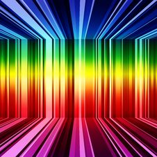 Free Abstract Rainbow Warped Stripes Background Stock Image - 35550961