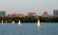 Free Boston Cityscape And Sailors Stock Photos - 35554143