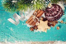 Free Vintage Christmas Decoration Stock Image - 35559661