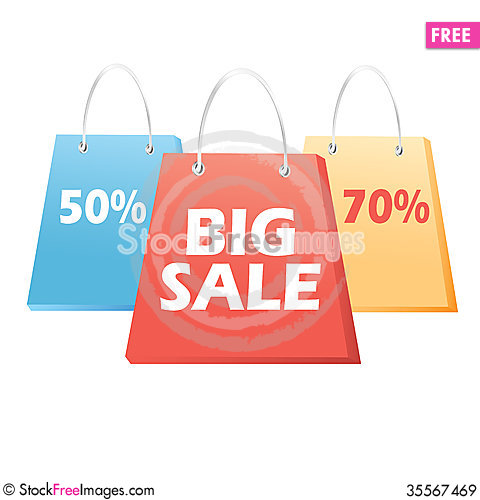 Free Handbags Sale Signs Royalty Free Stock Images - 35567469