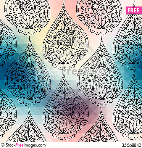 Free Ornament On Pixel Background Stock Photography - 35568842