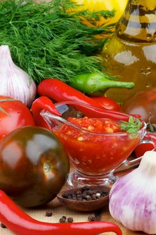 Free Bruschetta Sauce Royalty Free Stock Photography - 35561657