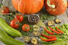 Free Vegetarian Still Life With Pumpkins Royalty Free Stock Photo - 35562275
