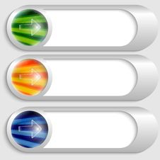 Free Buttons With Transparent Arrow Stock Photo - 35565150