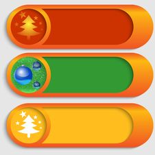 Free Vector Buttons With A Christmas Theme Royalty Free Stock Image - 35565296