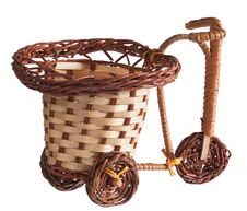 Free Wicker Bicycle. Royalty Free Stock Photos - 35567158