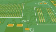 Free PCB Green Without Elements. Chip Suite. Royalty Free Stock Photos - 35569958
