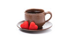 Free Coffee And Candy In The The Shape Of Heart For Valentine&x27;s Day Stock Photos - 35572783