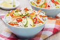Free Delicious Thai Salad With Vegetables, Noodles And Chicken Stock Photo - 35573410