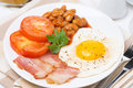 Free Traditional English Breakfast On The Plate Stock Photos - 35574113