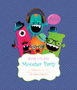 Free Monster Party Card Design. Vector Illustration Stock Images - 35575124