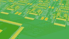 Free PCB Green. Background. Royalty Free Stock Photography - 35570677