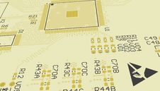 Free PCB Yellow, Don T Touch. Royalty Free Stock Image - 35570816