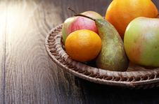 Free Fruits In Basket Stock Images - 35572774