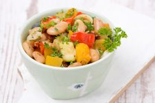 Free Vegetable Stew With Beans In A Bowl Stock Photo - 35574250