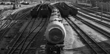 Train Station Oil Stock Photography