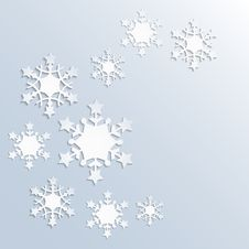Free Christmas Background With Snowflakes Stock Images - 35574694