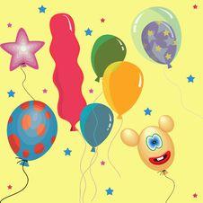 Free Color Balloons Stock Photos - 35576873